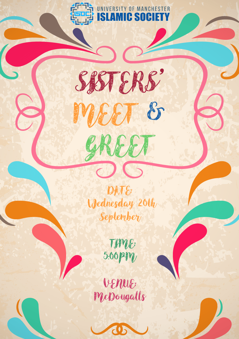 Sisters Meet And Greet University Of Manchester Islamic Society